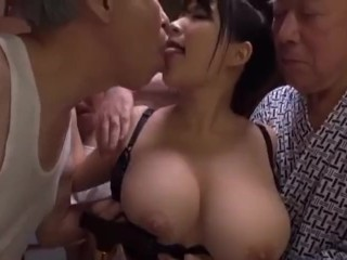 Busty Floosie Gangbanged Unconnected With Aged Men Nigh Creampie Plus Cum In The Sky Tits